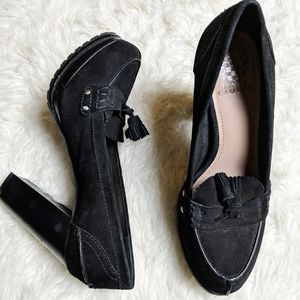 Vince Camuto Calling Leather Chunky Heel sz 10
